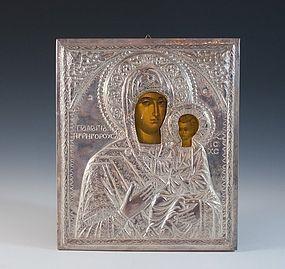 Large 800 Silver Religious Icon.
