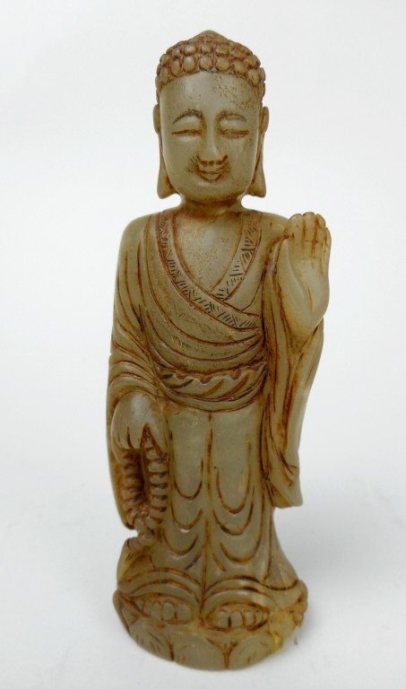 Antique Chinese Carved Jade Figure; Buddha.