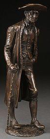 Victorian Bronze Figure.