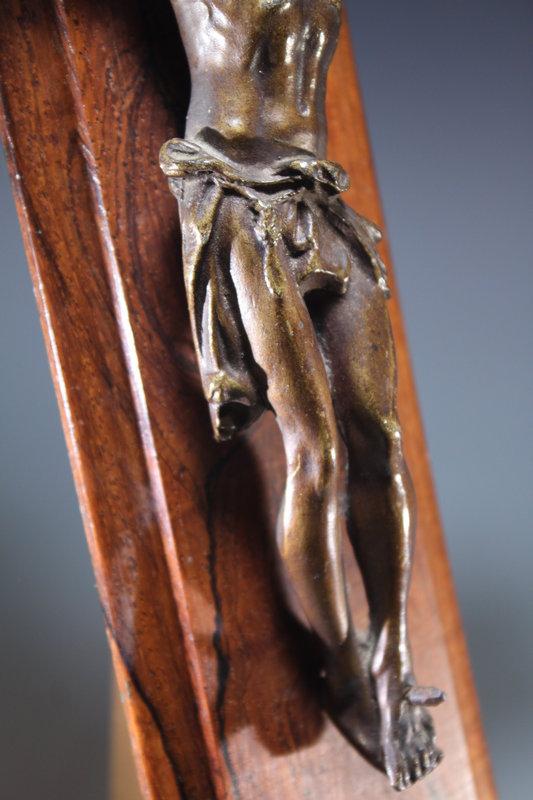19th C. French Bronze Crucifix.