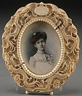 19th C. Miniature Portrait Painting.