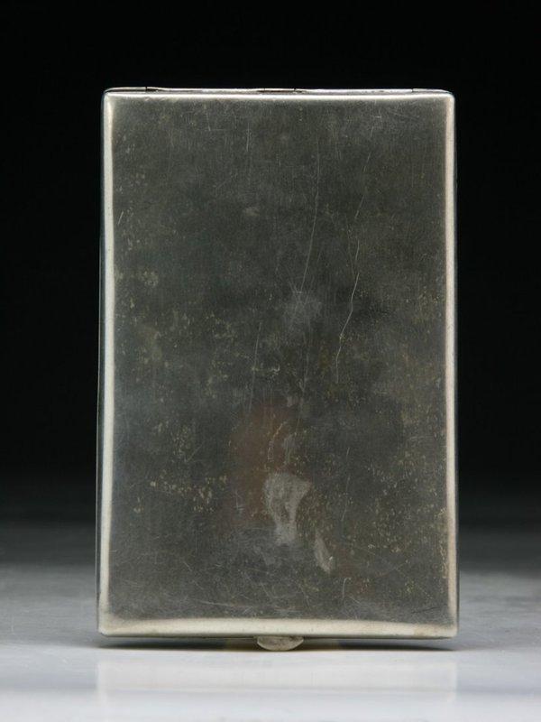 Antique Japanese  Engraved Silver  Cigarette Case.
