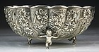 19th C. Exceptional Japanese Silver Bowl.