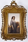 Large KPM Porcelain Painting Plaque; Ruth.
