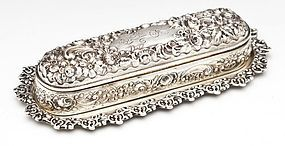 Impressive Sterling Silver Dresser Items; Box & Tray