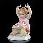 Karl Ens Porcelain Figure; Girl & Duck.