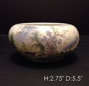 Impressive Chinese Enameled Porcelain Bowl.