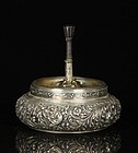 Dutch Repousse Silver Ashtray