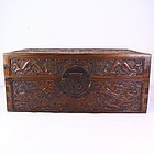 Chinese Natural Zitan Wood Storage Box