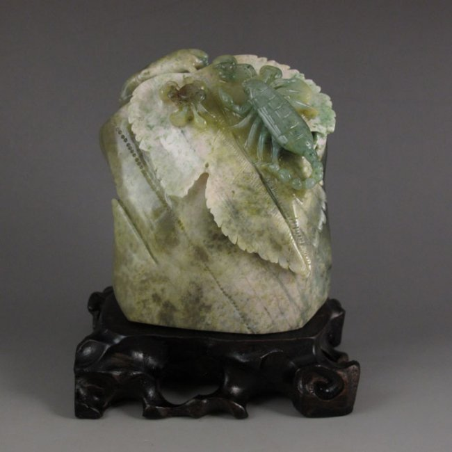 Chinese Natural Dushan Jade Carving.