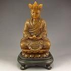 Chinese Natural Shoushan Stone Carving. Buddhism Buddha.