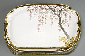19th C. Fine Japanese Enameled Porcelain Dish