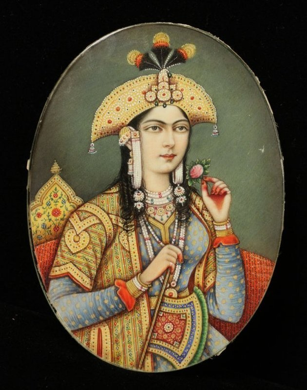 19th C. Incredible Miniature Portrait Painting.