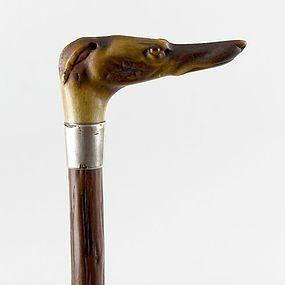 Victorian Horn-Handled Novelty Cane/Walking Stick.