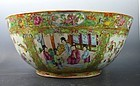 "19th C Chinese ""Rose Medallion"" Large Enameled Porcelain Bowl."