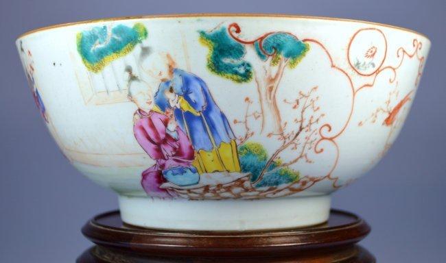 18th C. Chinese Mandarin Enameled Porcelain Bowl.