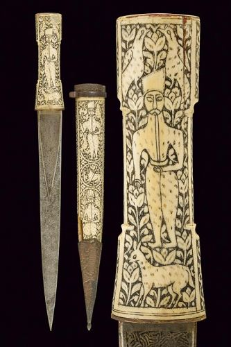 AN INTERESTING PERSIAN DAGGER WITH THREE BLADES