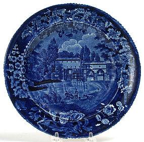 Enoch Wood pearlware Staffordshire plate, Sur la Marne