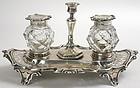 Sterling silver inkstand, Victorian, Henry Wilkinson