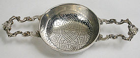 Paul de Lamerie silver punch or lemon strainer