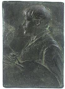 Augustus Saint-Gaudens bronze: Jules Bastien-Lepage