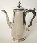 Irish Georgian sterling silver coffee pot, Dublin