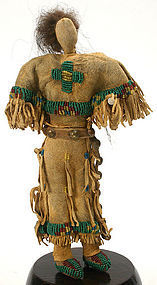 Native American folk art female doll, Northern Plains