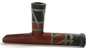 Antique Native American Indian catlinite pipe, N Plains