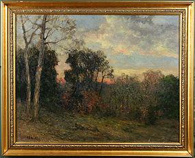 Charles E. Buckler painting - Twilight November