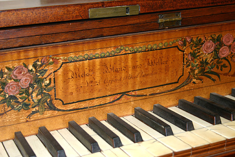Hepplewhite piano-forte by Bland & Weller, London