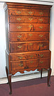 New Hampshire tiger maple Queen Anne highboy, c.1760
