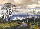 Ted Kautzky painting of Mount Washington, NH