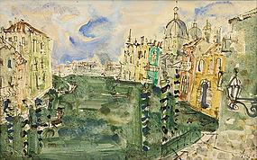 Paul Augustin Aizpiri painting - Grand Canal, Venice