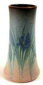 Rookwood Pottery vellum glaze vase with iris