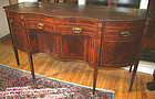 New York Federal period inlaid sideboard, signed