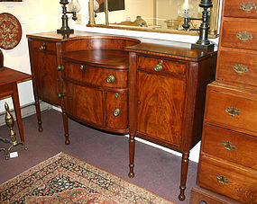 Federal period Boston sideboard with lunette inlay