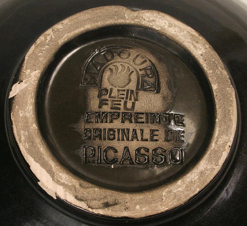 Pablo Picasso green Picador cupel bowl, Madoura Pottery