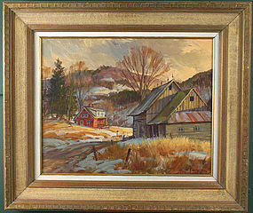 Harold Kloongian painting - Last of Winter, Vermont