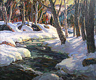 Thomas R. Curtin painting - Stream in Winter