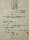 Paul Francois de Barras autographed document, 1794