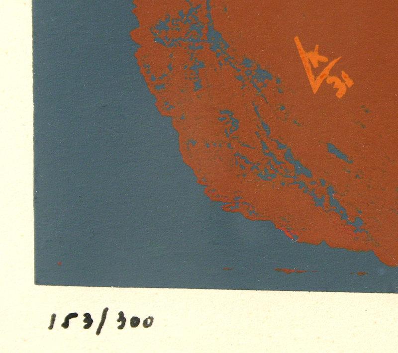 Wassily Kandinsky - Gris, original screen print, 1953