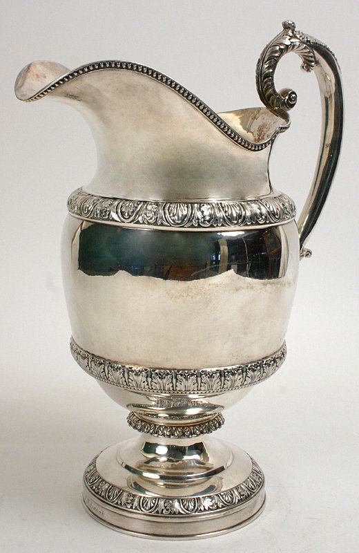 Coin silver water pitcher - Baldwin Gardiner and Co. NY