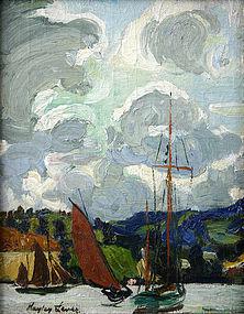 Hayley Lever landscape painting - River Lea, England