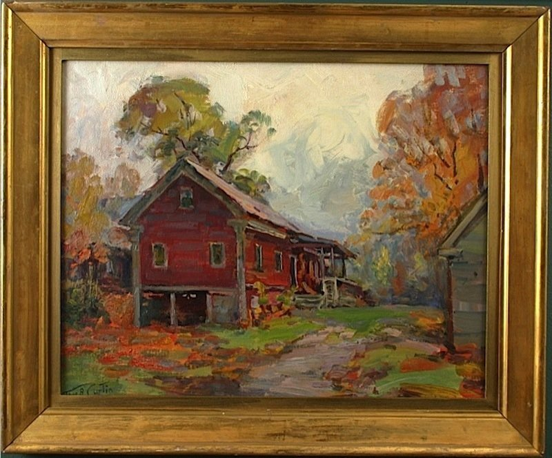 Thomas R. Curtin painting -Red House