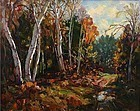Thomas R. Curtin painting of Autumnal Birches