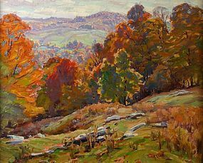 Thomas R. Curtin painting - Autumn Valley