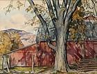 Luigi Lucioni watercolor painting - October Sparkle