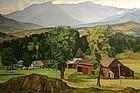 Luigi Lucioni painting - Mount Mansfield, Vermont