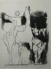 Marino Marini signed etching - Jongleurs (Acrobats)