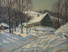 Thomas R. Curtin landscape painting - Snowed In, Vermont